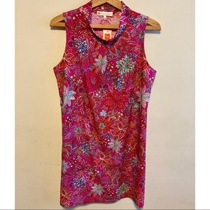 NWT Jude Connally Floral Fuchsia Willow dress LRG